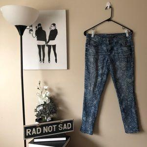 Merona Floral Patterned Skinny jeans